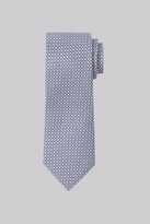 Moss Esq. Grey Geo Silk Tie