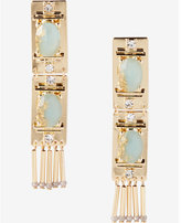 Express stone and metal fringe earrings