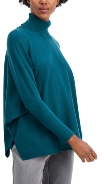 Alfani Drop-Shoulder Turtleneck Sweater, Created for Macy's