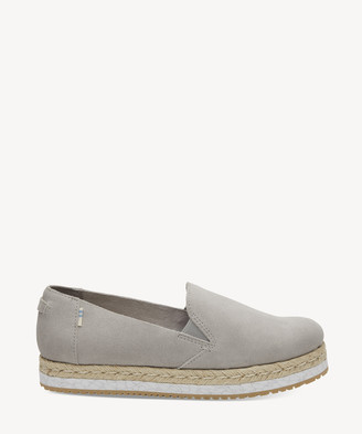 Toms Women's Palma Slip On Espadrille Flats Drizzle Grey Suede Size 10 From Sole Society
