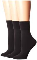 Hue Simply Skinny Socks 3-Pack Women's Crew Cut Socks Shoes
