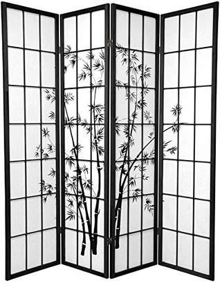 Oriental Furniture 6 ft. Tall Lucky Bamboo Shoji Screen - - 4 Panels