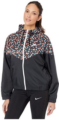 Nike NSW Heritage Jacket Woven Floral (Black/White) Women's Clothing