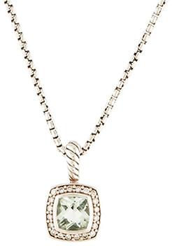 David Yurman Petite Albion Pendant Necklace (Prasiolite)