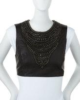 Missoni Embellished Leather Pauldron, Black