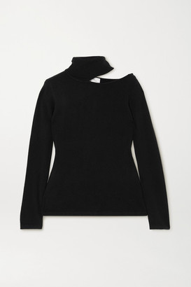 Arch4 Cutout Cashmere Turtleneck Sweater - Black