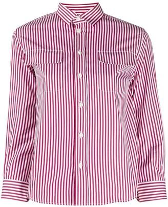 Maison Margiela three-quarter sleeves striped shirt