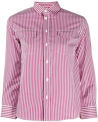 Maison Margiela Three-Quarter Sleeves Striped Shirt