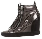 Giuseppe Zanotti Lorenz 75 Wedge Sneakers