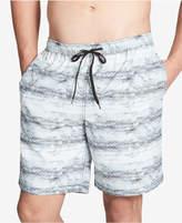 """Calvin Klein Men's Printed 19.5"""" Swim Trunks, Created For Macy's"""