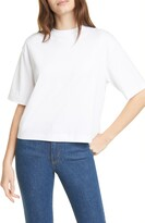Vince Wide Sleeve Crop Pima Cotton Tee
