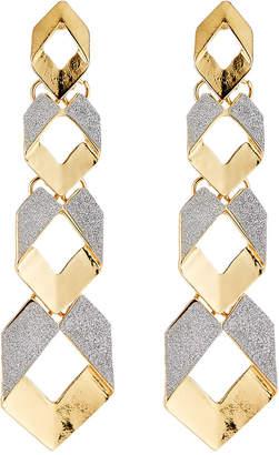 Romeo & Juliet Couture Linear Glitter Drop Earrings