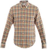 Gant Check-print linen-blend shirt
