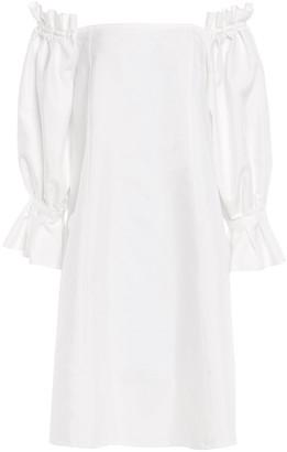 ADEAM Off-the-shoulder Cotton-blend Poplin Dress