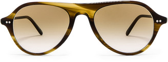 Oliver Peoples Emet in Bark & Honey Gradient | FWRD
