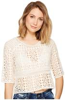 BB Dakota Lalaina Crochet Lace Top