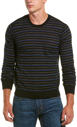 Vince Striped Crew Neck Wool Pullover