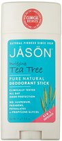 Jason Purifying Tea Tree Deodorant Stick, 2.5 Ounce Tubes (Pack of 3)