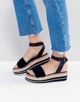 Sixty Seven Sixtyseven Flatform Espadrille Suede Leather Sandal