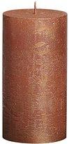 Rustic 103667640380 Metallic Pillar Candle, Paraffin Wax, Copper
