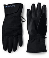 Classic Men's Ski Gloves-Dark Carnelia Bold Stripe