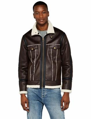 Find. Amazon Brand Men's Leather Look Flight Jacket
