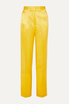 Jil Sander Satin Straight-leg Pants - Yellow