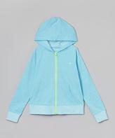 Champion Chroma Blue & Green Gecko Zip-Up Hoodie - Girls