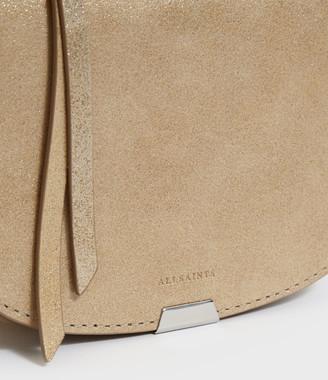 AllSaints Glitz Mini Round Leather Crossbody Bag