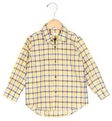 Il Gufo Boys' Collared Checkered Shirt w/ Tags