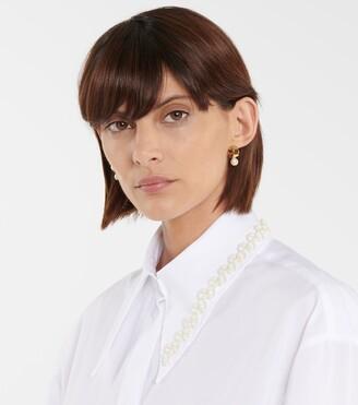 Simone Rocha Pearl hoop earrings