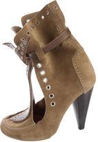 Isabel Marant Grommet-Embellished Mossa Ankle Boots