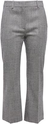 Altuzarra Prince Of Wales Checked Wool-blend Kick-flare Pants