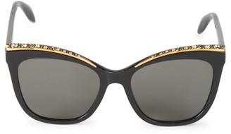 Alexander McQueen 55MM Embellished Cat Eye Sunglasses
