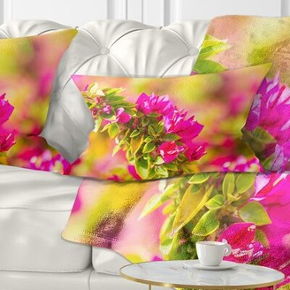 Bougainvillea East Urban Home Floral Beautiful Flowers Lumbar Pillow East Urban Home