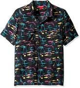UNIONBAY Men's Classic Short Sleeve Rayon Button-up Woven Shirt