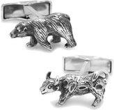 Cufflinks Inc. Men's Sterling Bull Bear Cufflinks