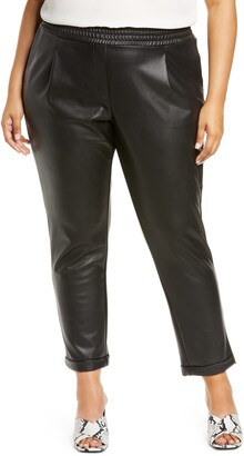 Halogen x Atlantic-Pacific Faux Leather Trousers