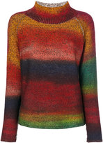 Etro striped turtleneck jumper - women - Cotton/Cashmere/Wool - 42