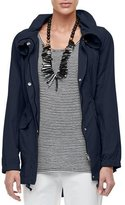 Eileen Fisher High-Collar Weather-Resistant Utility Jacket, Plus Size