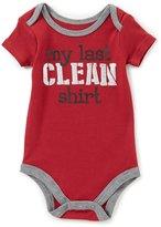 Baby Starters Baby Boys 3-12 Months My Last Clean Shirt Short-Sleeve Bodysuit