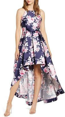 Speechless High/Low Floral Print Halter Dress