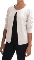 Cable & Gauge Solid Vintage Cardigan Sweater - 3/4 Sleeve (For Women)