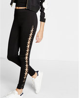 Express ponte knit lace-up legging