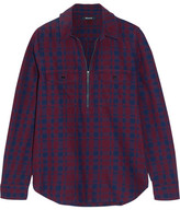Madewell Mckinney Plaid Cotton-flannel Shirt - Burgundy
