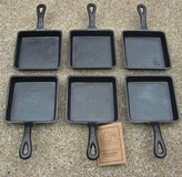Old Mountain Square Single Serve Cast Iron Skillet - Preseasoned Set of 6 by Old Mountain