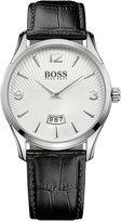 BOSS Men's Commander Black Leather Strap Watch 41mm 1513449