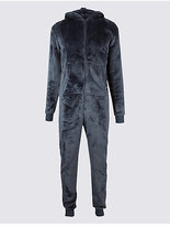 M&S Collection Navy Shimmer Hooded Onesie