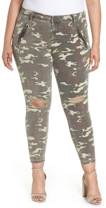 KUT from the Kloth Connie Camo Ankle Skinny Cargo Pants (Plus Size)