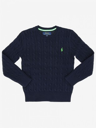 Polo Ralph Lauren Boy Polo Ralph Lauren Kid Sweater With Embroidered Logo